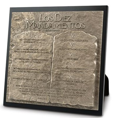 Placa con Escultura Diez Mandamientos  (Ten Commandments Sculpture Plaque)  -