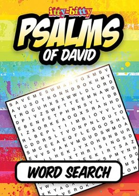 Psalms of David itty Bitty Word Search Activity Book  -