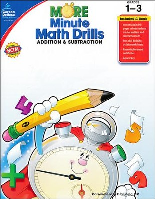 More Minute Math Drills: Addition & Subtraction, Grades 1-3  -