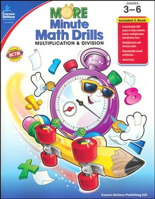 More Minute Math Drills: Multiplication & Division, Grades 3-6  -