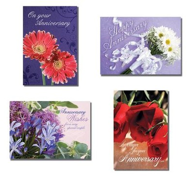 Fabulous Flowers - Anniversary Cards/Box of 12  -