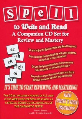 Spell to Write and Read Companion CD  -     By: Wanda Sanseri, Jennifer Schroeder