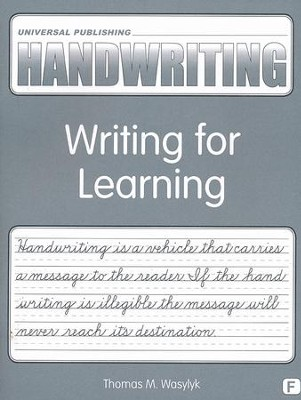 Original Handwriting: Writing for Learning (Book F, Grade 5)  -     By: Thomas M. Wasylyk