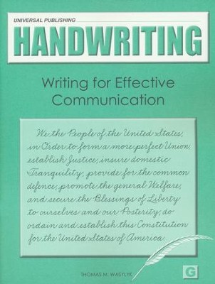 Original Handwriting: Writing for Effective Communication (Book G, Grades 6+)  -     By: Thomas M. Wasylyk