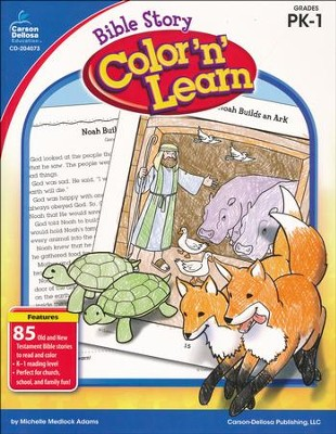 Bible Story Color 'n' Learn, Grades PreK-1   -     By: Michelle Medlock Adams
