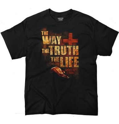 The Way, the Truth, the Life Shirt, Black, Large  -