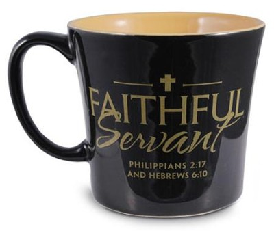 Faithful Servant Mug, Black  -