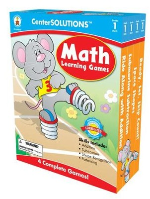Center Solutions: Math Learning Games Grade 1  -