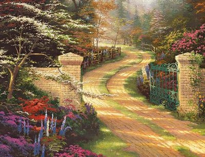 Spring Gate Guest Book  -     By: Thomas Kinkade