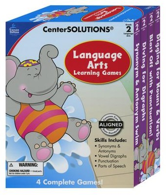 Center Solutions: Language Arts Learning Games Grade 2  -