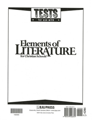 Elements Of Literature Grade 10, Tests (Updated Version)   -