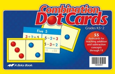 Abeka Combination Dot Cards (K5; 55 cards)   -