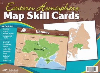 Abeka Eastern Hemisphere Map Skill Cards Grades 5-8 (5th  Edition)  -