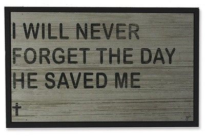 I Will Never Forget Wood Box Print  -