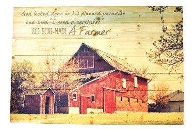 So God Made a Farmer--Wall Art   -