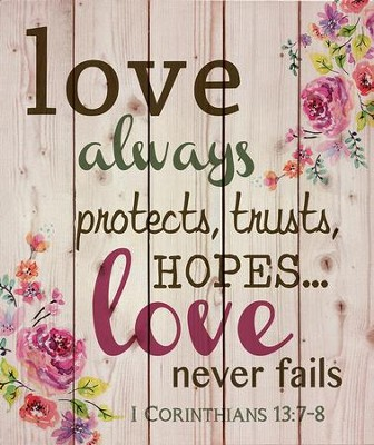 Love Always Protects Wall Art  -