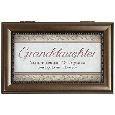 Granddaughter, You Will Always Be One Of God's Greatest Blessings Music Box  -