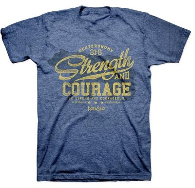 Strength and Courage, Bear Shirt, Blue, 4X    -