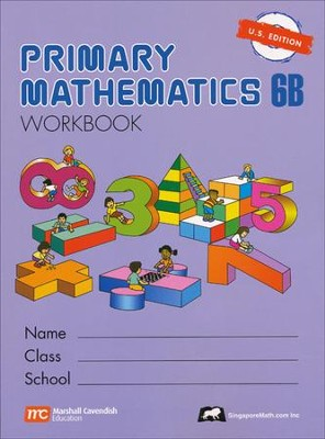 Singapore Math: Primary Math Workbook 6B US Edition   -