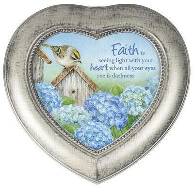Faith Is Seeing Light With Your Heart Music Box  -