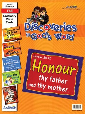 Discoveries in God's Word Primary (Grades 1-2) Memory Verse Visuals  -