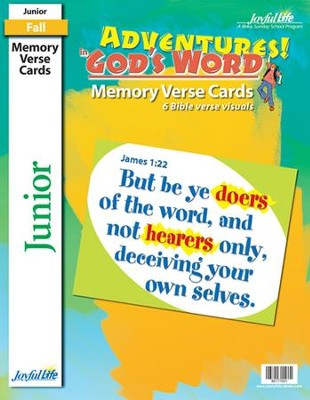 Adventures in God's Word Junior (Grades 5-6) Memory Verse Visuals  -