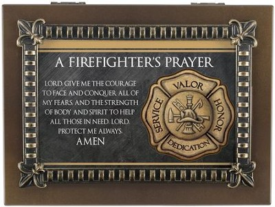 A Firefighter's Prayer Music Box  -