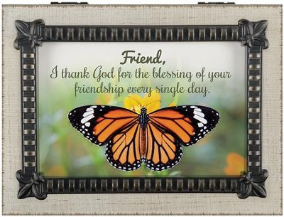 The Blessing Of Your Friendship Music Box  -
