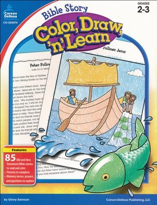 Bible Story Color, Draw, 'n' Learn, Grades 2-3   -     By: Ginny Swinson