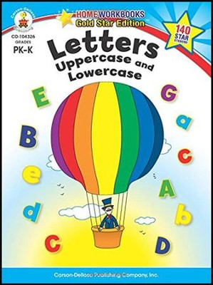 Home Workbooks Gold Star Ed., Letters Upper & Lowercase, PreK-K    -