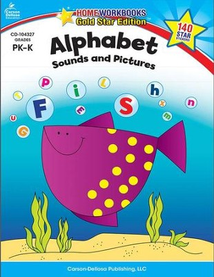 Home Workbooks Gold Star Ed, Alphabet Sounds & Pictures, PreK-K   -