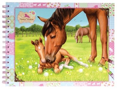 Horses Dreams Coloring Book, Large  -