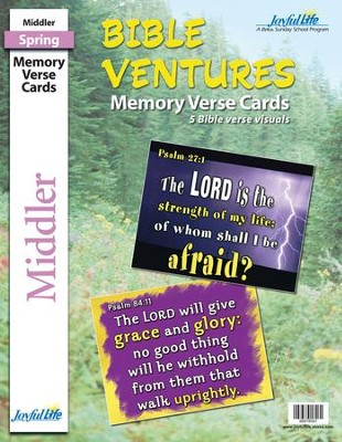 Bible Ventures Middler (grades 3-4) Memory Verse Visuals (Spring Quarter)  -
