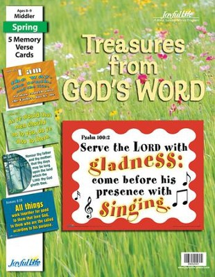 Treasures from God's Word Middler (Grades 3-4) Memory Verse Visuals  -