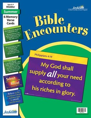Bible Encounters Middler (Grades 3-4) Memory Verse Visuals  -
