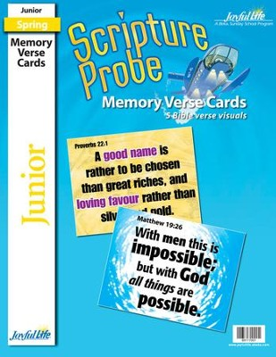Scripture Probe Junior (grades 5-6) Memory Verse  Visuals (Spring Quarter)  -