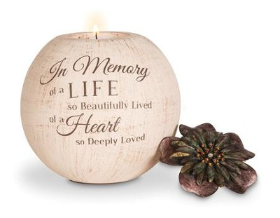 In Memory Of A Life So Beautifully Lived Candle Holder   -