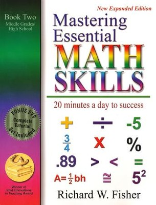 Mastering Essential Math skills: Book Two New Expanded Edition with DVD  -     By: Richard W. Fisher