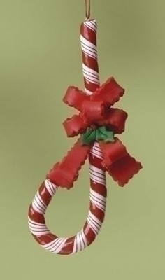 Candy Cane with Box Ornament  -