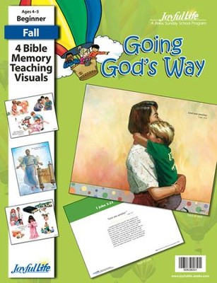Going God's Way Beginner (ages 4 & 5) Bible Memory Verse Visuals  -