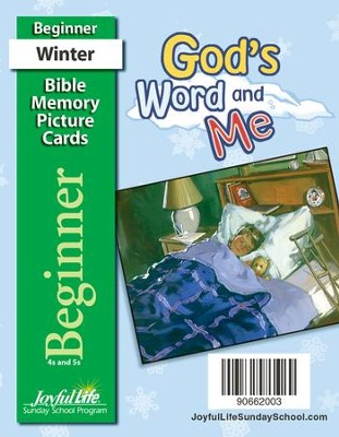 God's Word and Me Beginner (ages 4 & 5) Mini Bible Memory Picture Cards  -