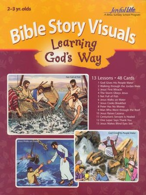 Let's Learn About God Beginner (ages 4 & 5) Bible Memory Verse Visuals  -