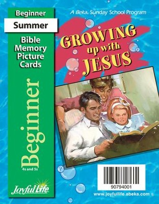 Growing Up with Jesus Beginner (ages 4 & 5) Mini Bible Memory Picture Cards  -