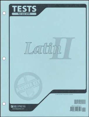 BJU Latin II, Tests Answer Key    -