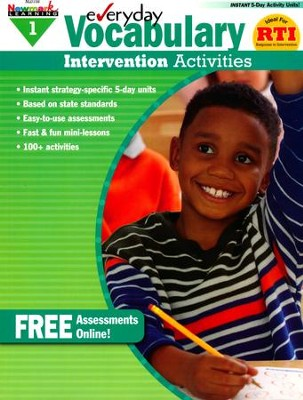 Everyday Vocabulary Intervention Activities Grade 1  -