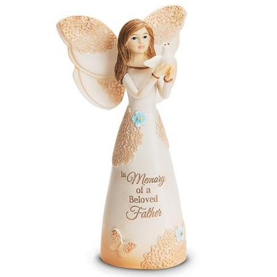 In Memory Of A Beloved Father Angel Figurine  -