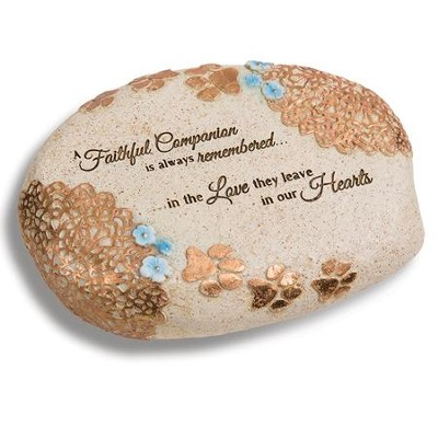 A Faithful Companion Is Always Remembered, Pet Memorial Stone  -