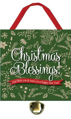 Christmas Blessings Ornament with Bell  -