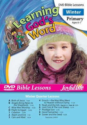 Learning God's Word Primary (Grades 1-2) Bible Lesson DVD  -