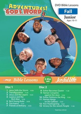 Adventures in God's Word Junior (Grades 5-6) Bible  Lesson DVD  -